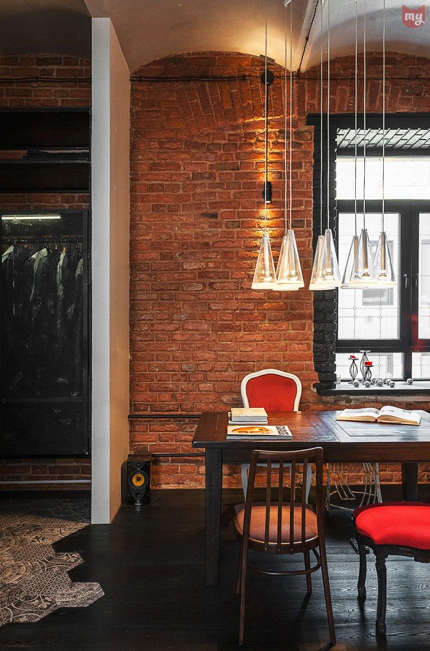 Фотография: Кухня и столовая в стиле Лофт, Эклектика, Квартира, Проект недели, Москва, Герой InMyRoom, Ксения Стрекоза – фото на INMYROOM