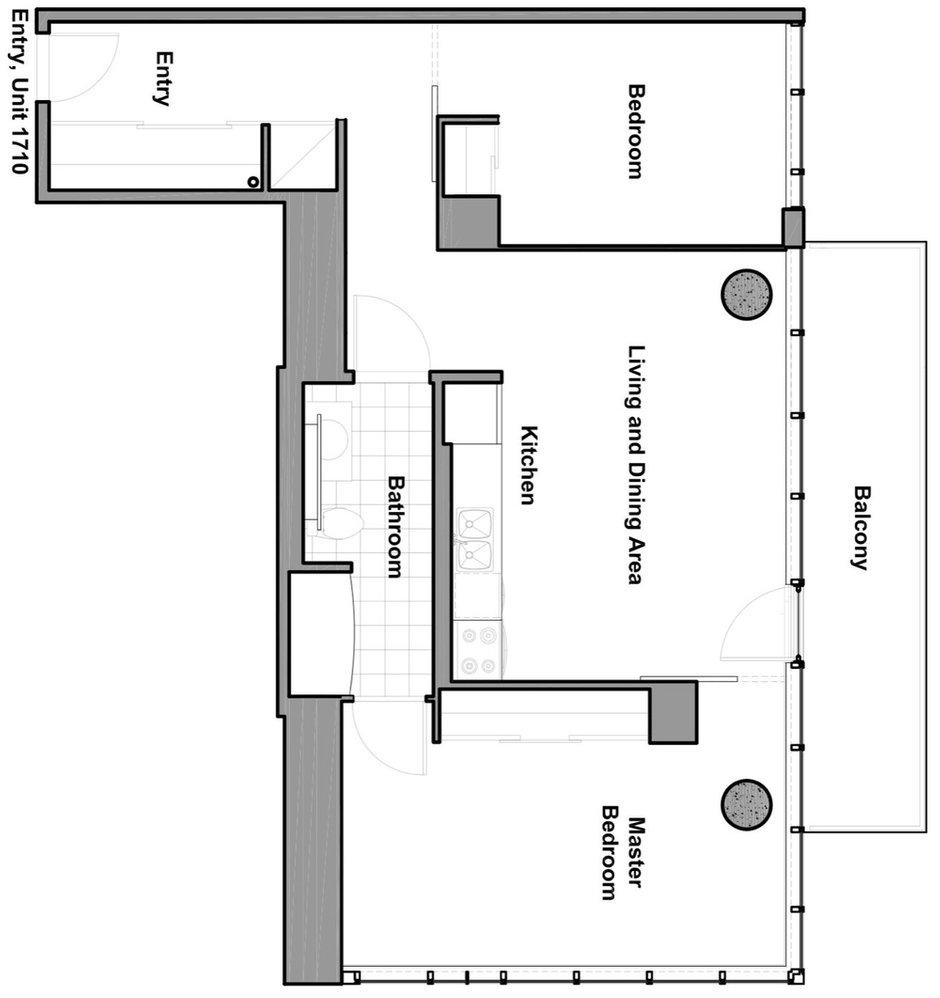 Фотография: Планировки в стиле , Квартира, Цвет в интерьере, Дома и квартиры, Белый, Панорамные окна – фото на InMyRoom.ru