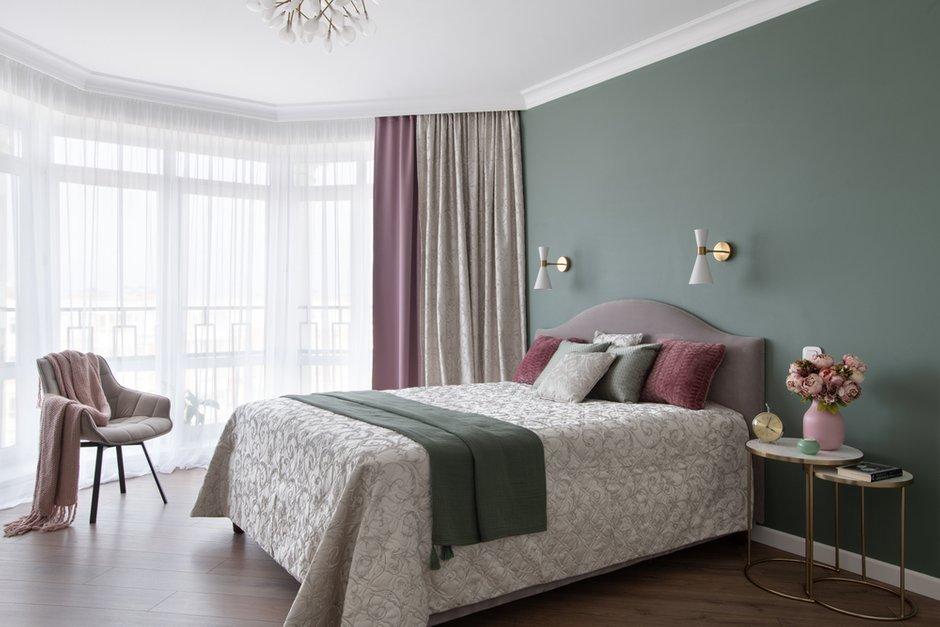 Фотография: Спальня в стиле Современный, Эклектика, Квартира, Советы, 2 комнаты, 60-90 метров, Юлия Горбунова – фото на INMYROOM