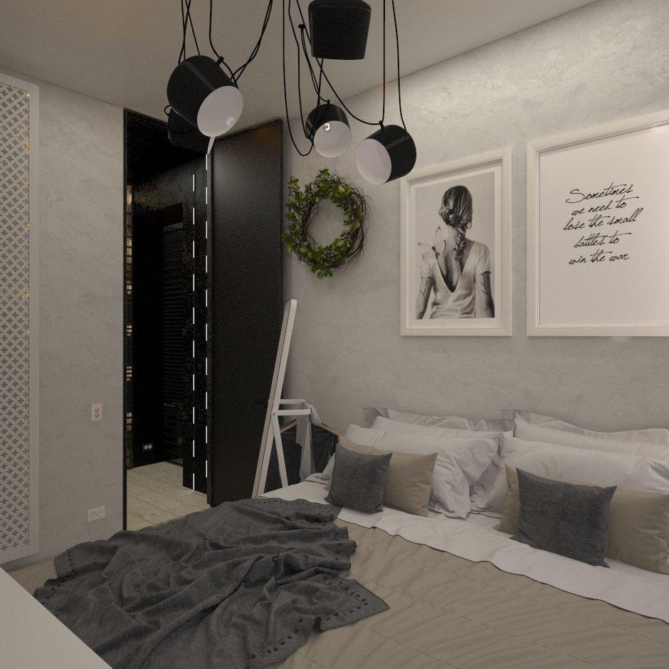 Фотография: Спальня в стиле Скандинавский, Квартира, Проект недели, Блочный дом, 2 комнаты, 40-60 метров, Юлия Штыкина, Ла Корунья – фото на INMYROOM