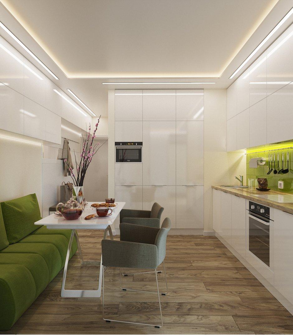 Фотография:  в стиле , Современный, Малогабаритная квартира, Квартира, Студия, Проект недели, Hansgrohe, Никита Зуб, как зонировать студию, Bosch, студия в современном стиле – фото на INMYROOM