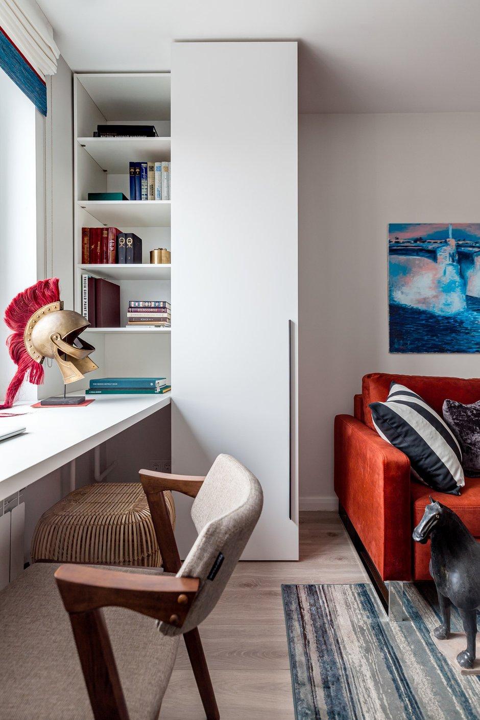 Фотография: Гостиная в стиле Современный, Квартира, Проект недели, Москва, 2 комнаты, 40-60 метров, Юлия Беляева, YU design, Юлия Галкина – фото на INMYROOM