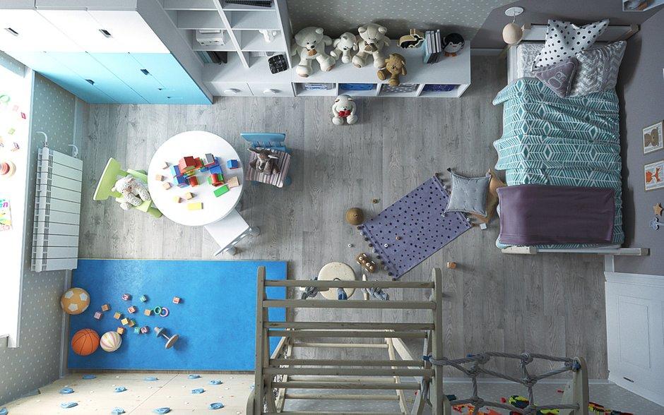Фотография: Детская в стиле Скандинавский, Квартира, Проект недели, Екатеринбург, Монолитный дом, Юлия Калеми, 3 комнаты, 60-90 метров – фото на INMYROOM