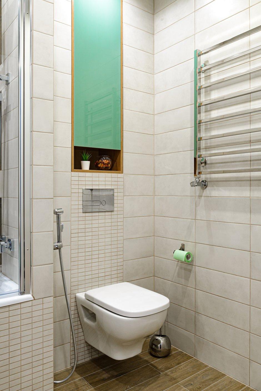 Фотография: Ванная в стиле Современный, Квартира, Проект недели, Новосибирск, 3 комнаты, 60-90 метров, Студия 3D, Полина Марченко – фото на INMYROOM