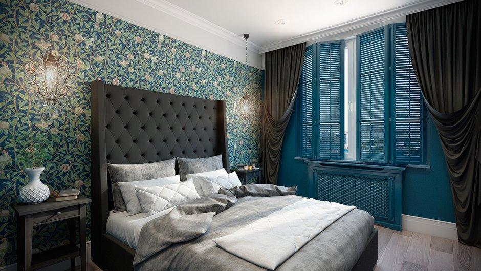 Фотография: Спальня в стиле , Квартира, Проект недели, Москва, Co:Interior, Монолитный дом, 2 комнаты, 60-90 метров, ЖК «Мосфильмовский» – фото на INMYROOM