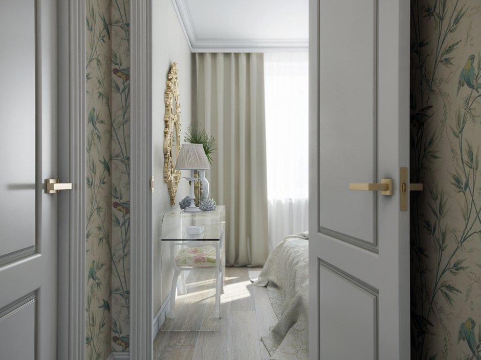 Фотография: Спальня в стиле Эклектика, Классический, Квартира, Проект недели, Московская область, новостройка, Александра Никулина, Монолитный дом, 3 комнаты, 60-90 метров – фото на INMYROOM