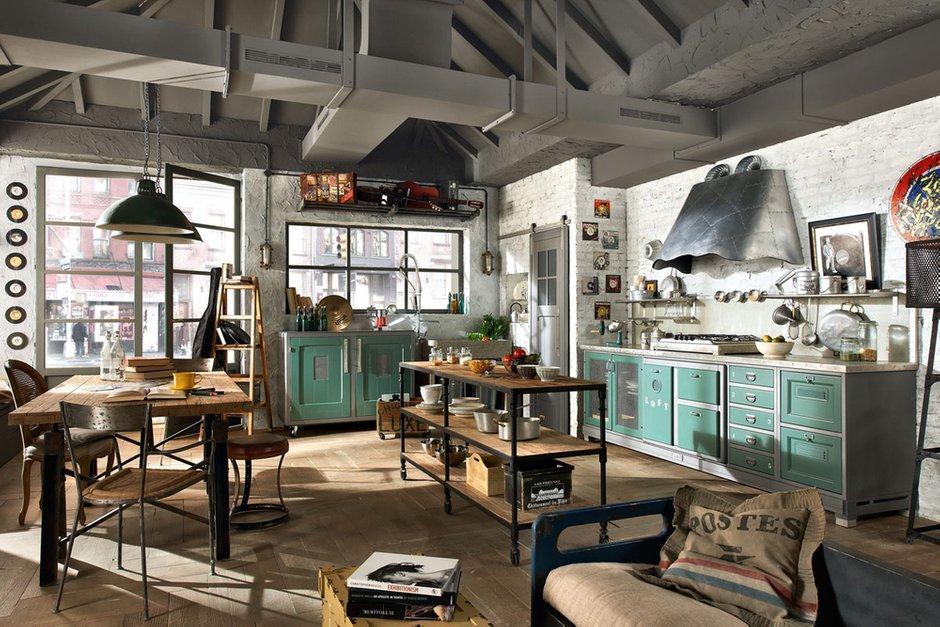 Фотография: Кухня и столовая в стиле Прованс и Кантри, Лофт, Современный, Декор интерьера, Квартира, Дома и квартиры, Стена, Индустриальный – фото на INMYROOM