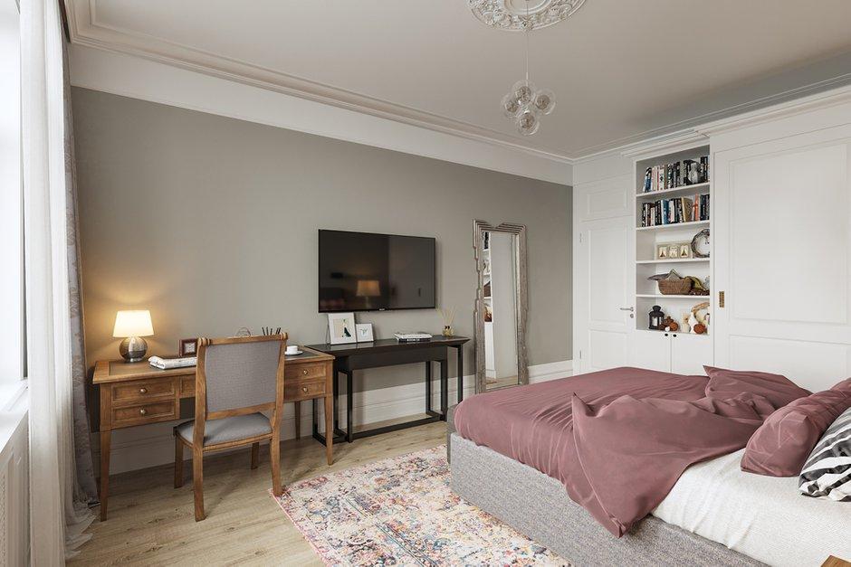 Фотография: Спальня в стиле Современный, Квартира, Проект недели, Санкт-Петербург, Монолитный дом, 3 комнаты, Более 90 метров, Эльжбета Чегарова – фото на INMYROOM