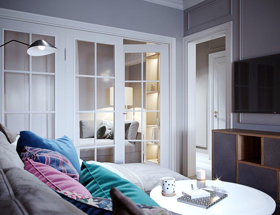 Фотография: Гостиная в стиле Современный, Квартира, Проект недели, Москва, 4 и больше, Более 90 метров, Little Space – фото на INMYROOM