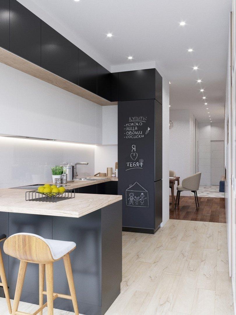 Фотография: Кухня и столовая в стиле Современный, Квартира, Проект недели, Химки, Монолитный дом, 3 комнаты, 60-90 метров, Анна Русскина – фото на INMYROOM