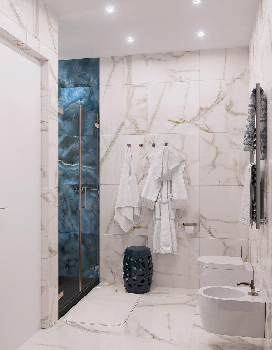 Фотография: Ванная в стиле Современный, Квартира, Студия, Проект недели, Москва, 1 комната, 40-60 метров, Оксана Дьяпич – фото на INMYROOM