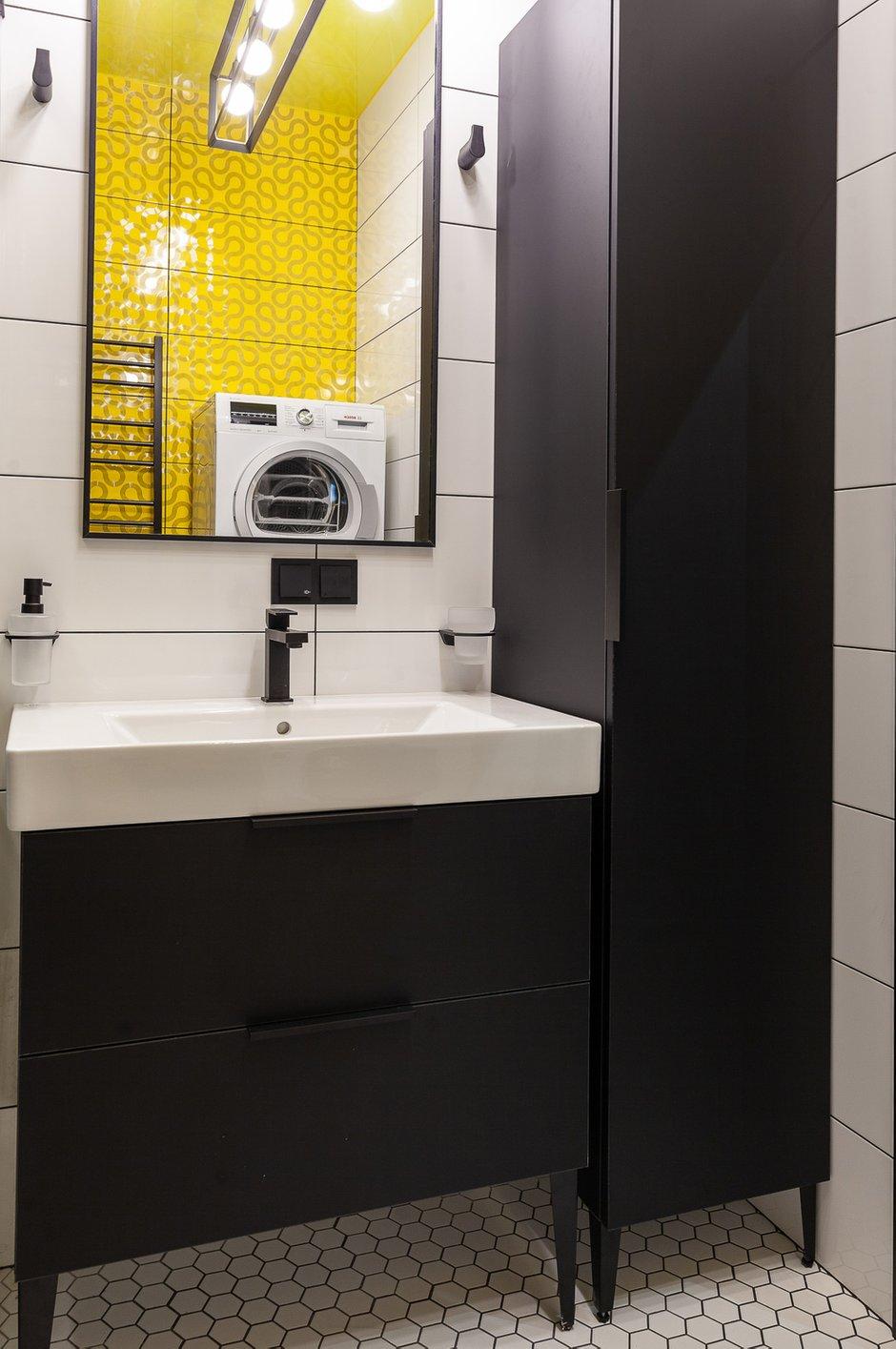 Фотография: Ванная в стиле Современный, Квартира, Проект недели, Москва, Монолитный дом, Надежда Требухина – фото на INMYROOM