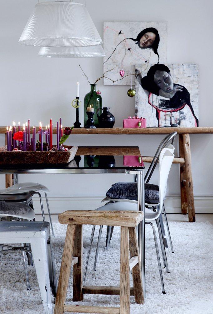 Фотография: Кухня и столовая в стиле Скандинавский, Декор интерьера, Малогабаритная квартира, Квартира, Праздник, Цвет в интерьере, Дома и квартиры, Белый – фото на InMyRoom.ru
