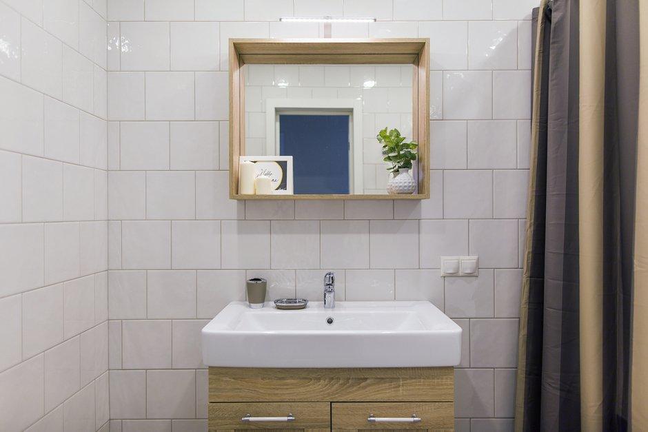 Фотография: Ванная в стиле Скандинавский, Современный, Квартира, Проект недели, Одинцово, Кирпичный дом, 2 комнаты, 60-90 метров, Flatforfox – фото на INMYROOM