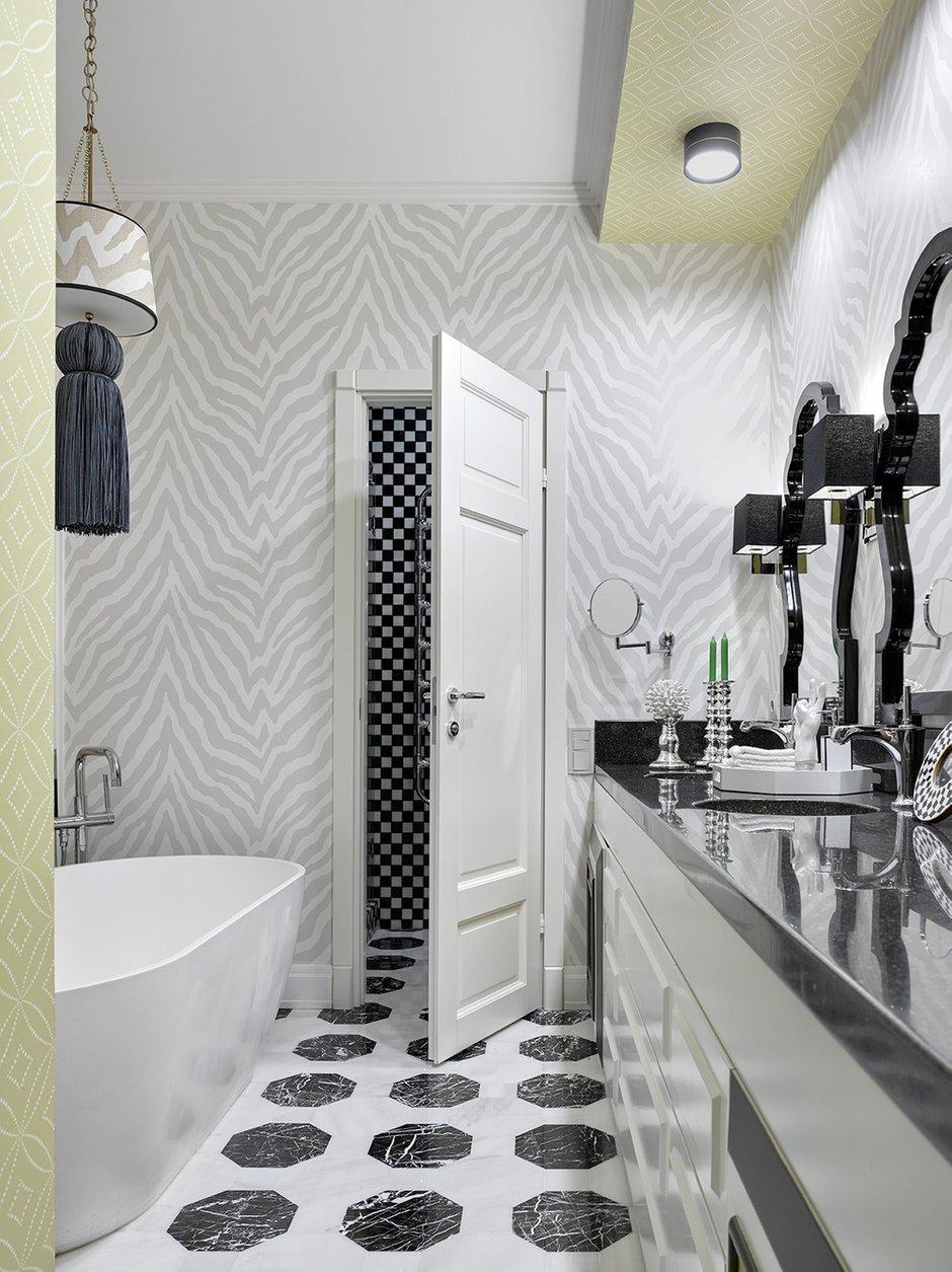 Фотография: Ванная в стиле Классический, Квартира, Проект недели, Москва, 4 и больше, Более 90 метров, Монолитно-кирпичный, Марина Жукова – фото на INMYROOM