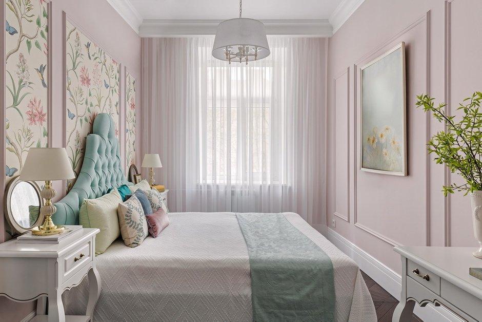 Фотография: Спальня в стиле Классический, Эклектика, Квартира, Проект недели, Санкт-Петербург, Кирпичный дом, 2 комнаты, 40-60 метров, Светлана Оленбург – фото на INMYROOM