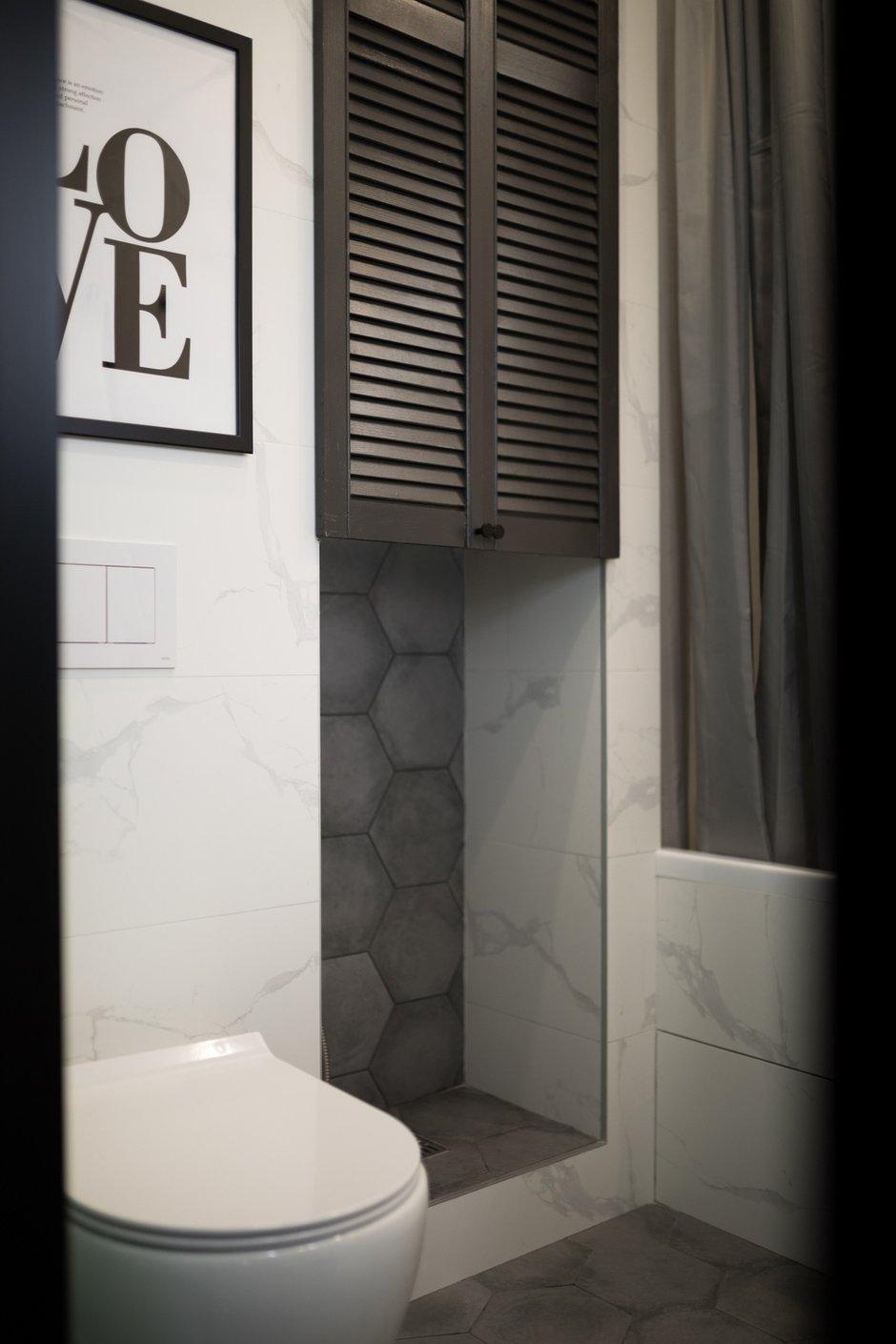Фотография: Ванная в стиле Современный, Квартира, Проект недели, Санкт-Петербург, 1 комната, до 40 метров, Нина Иваненко – фото на INMYROOM