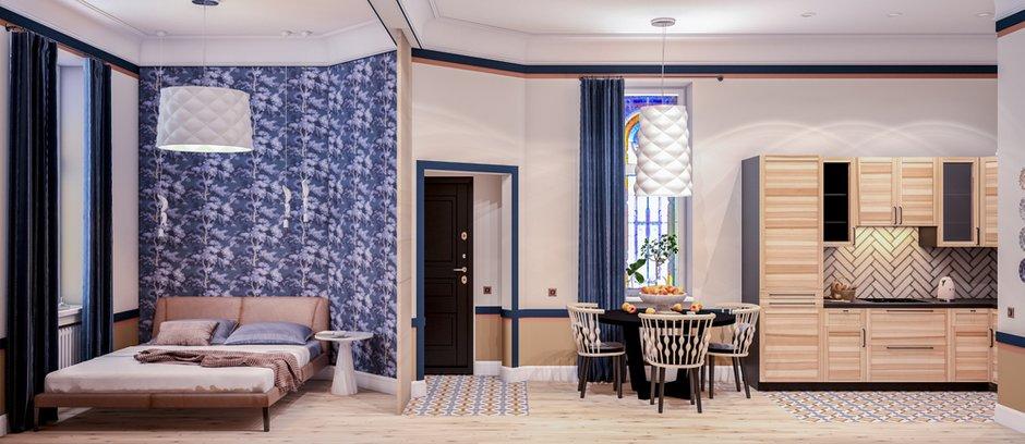Фотография: Гостиная в стиле Современный, Скандинавский, Квартира, Студия, Проект недели, Марина Саркисян, Хельсинки, до 40 метров – фото на INMYROOM