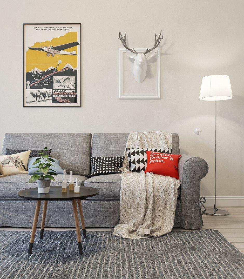Фотография: Гостиная в стиле Скандинавский, Квартира, Дома и квартиры, Проект недели – фото на INMYROOM