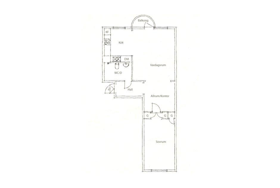 Фотография: Планировки в стиле , Малогабаритная квартира, Квартира, Цвет в интерьере, Дома и квартиры, Белый, Шторы – фото на INMYROOM