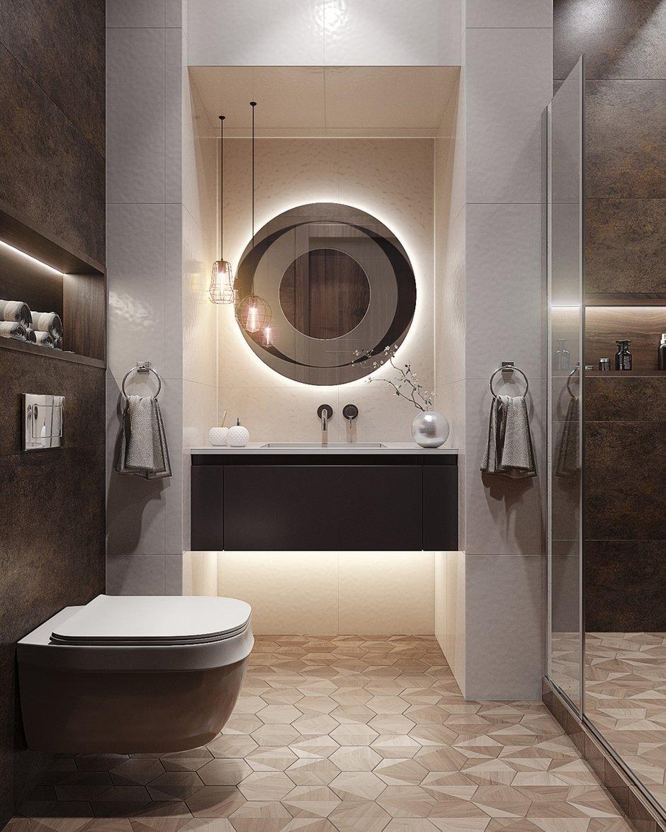 Фотография: Ванная в стиле Современный, Квартира, Проект недели, Москва, 3 комнаты, 60-90 метров, Кирилл Сахаров – фото на INMYROOM