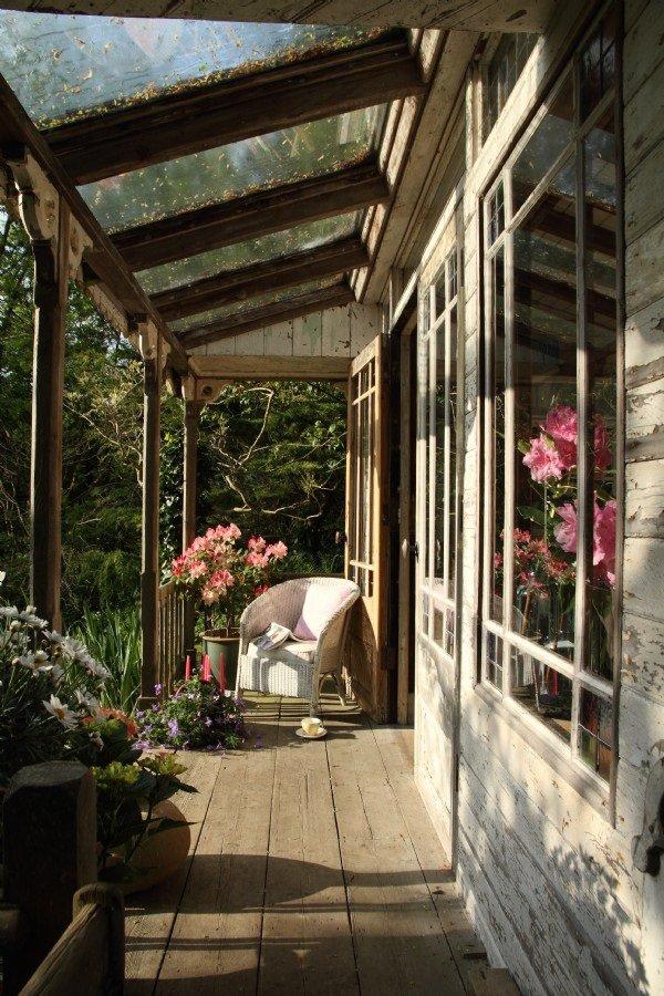 Фотография: Балкон, Терраса в стиле , Дом, Дома и квартиры, Дача, Шебби-шик – фото на INMYROOM