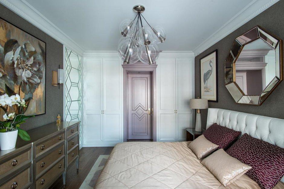 Фотография: Спальня в стиле Классический, Современный, Эклектика, Квартира, Проект недели, Санкт-Петербург, Монолитный дом, 3 комнаты, Более 90 метров, #эксклюзивныепроекты, Parsifal Studio – фото на INMYROOM