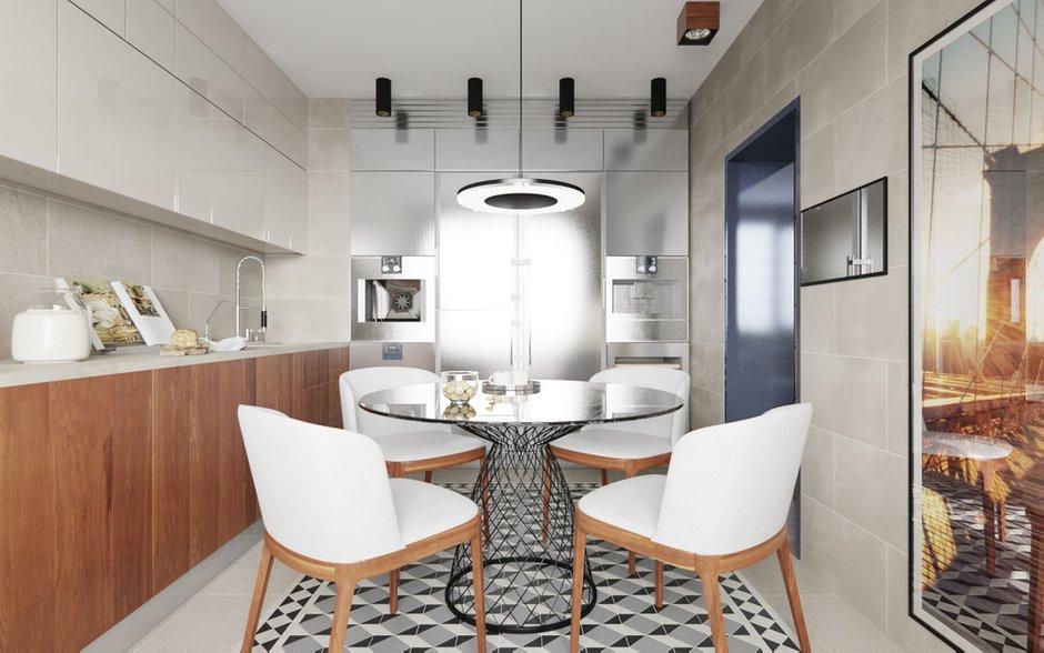 Фотография: Кухня и столовая в стиле Минимализм, Квартира, Проект недели – фото на INMYROOM