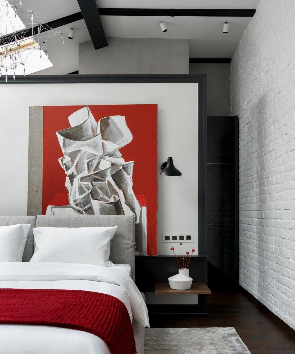 Фотография: Спальня в стиле Современный, Лофт, Проект недели, Москва, Мария Рублева, Кирпичный дом, 4 и больше, Более 90 метров, #эксклюзивныепроекты – фото на INMYROOM
