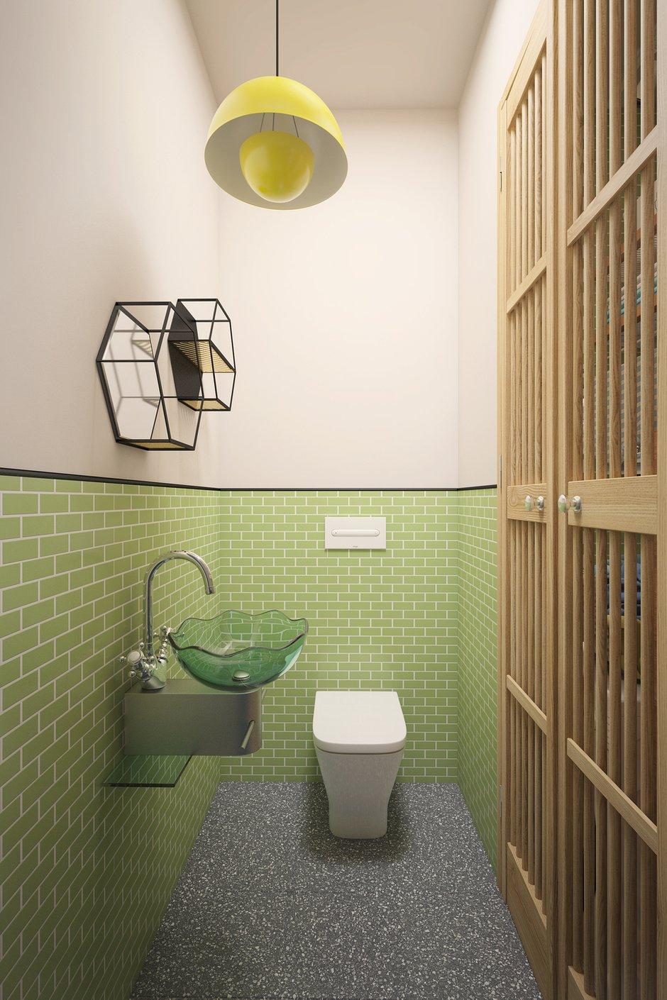 Фотография: Ванная в стиле Современный, Эклектика, Квартира, Проект недели, Москва, Кирпичный дом, 2 комнаты, 60-90 метров, Манана Хучуа – фото на INMYROOM