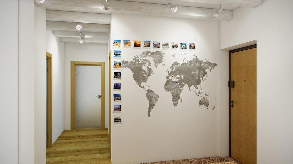 Фотография: Прихожая в стиле Современный, Декор интерьера, Квартира, Цвет в интерьере, Дома и квартиры, Проект недели, Стены – фото на INMYROOM