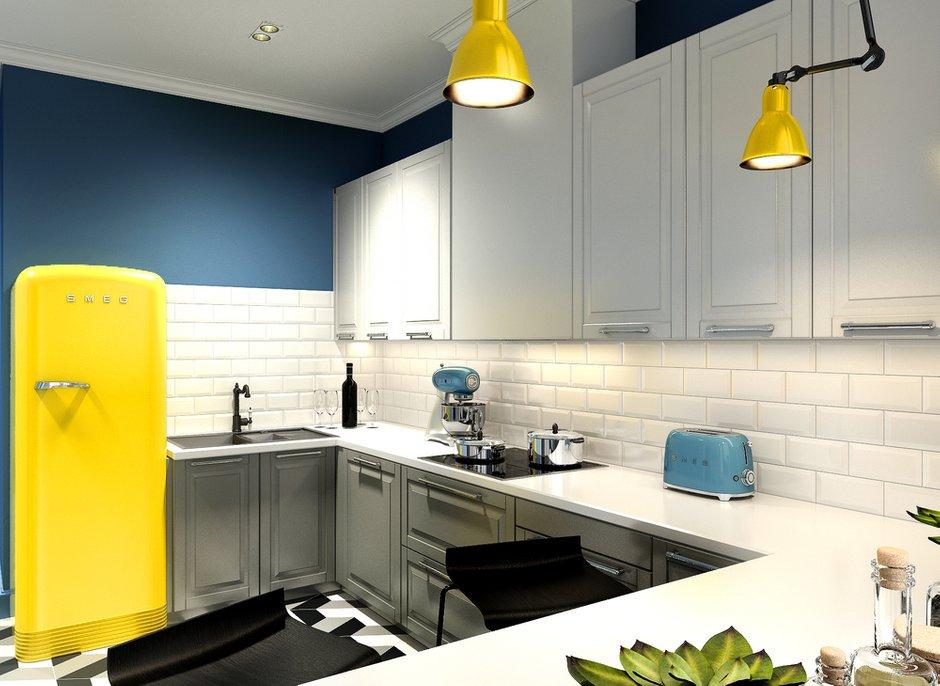 Фотография: Кухня и столовая в стиле Лофт, Квартира, Проект недели, Анастасия Туганова – фото на INMYROOM