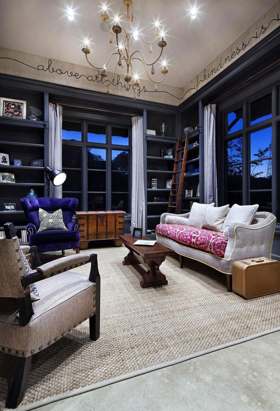 Фотография: Гостиная в стиле Современный, Эклектика, Классический, Дом, Дома и квартиры, Шебби-шик, Индустриальный, Техас – фото на INMYROOM