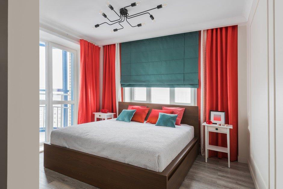 Фотография: Спальня в стиле Современный, Квартира, Проект недели, Новосибирск, 2 комнаты, 40-60 метров, 60-90 метров, Анна Марковина – фото на INMYROOM