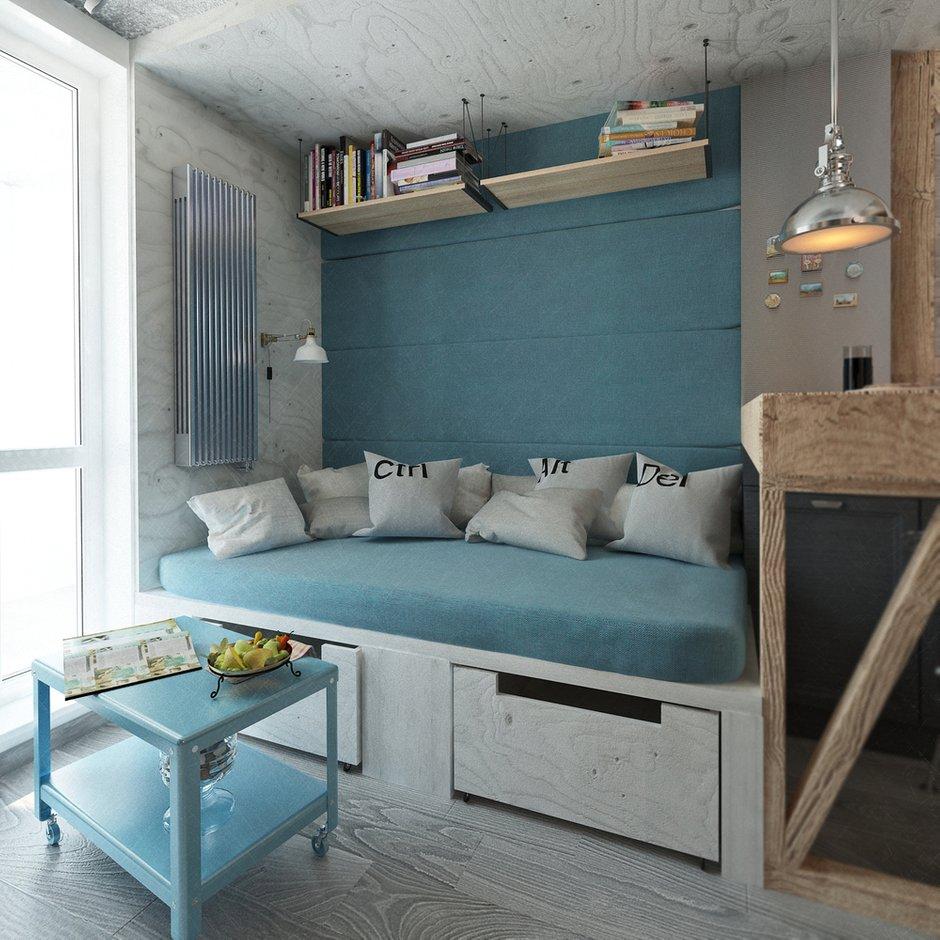 Фотография: Гостиная в стиле Лофт, Квартира, Дома и квартиры, IKEA, Проект недели, Cosmorelax – фото на INMYROOM
