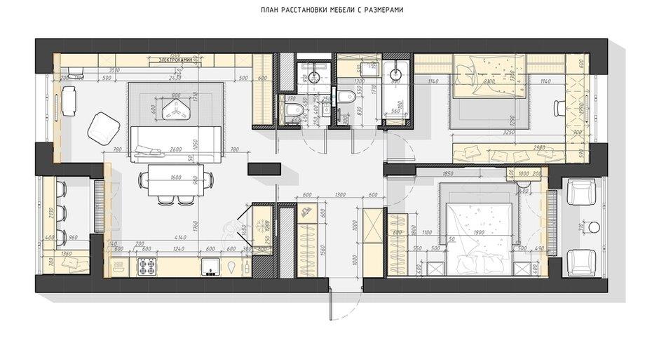 Фотография: Планировки в стиле , Современный, Квартира, Проект недели, 3 комнаты, Более 90 метров, Люберцы, Александра Гартке – фото на INMYROOM