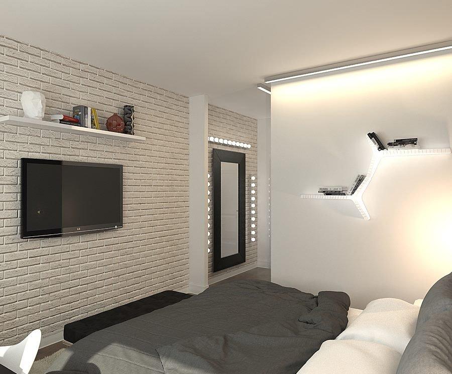 Фотография: Спальня в стиле Скандинавский, Квартира, BoConcept, Цвет в интерьере, Дома и квартиры, Белый, IKEA, Проект недели, Cosmorelax – фото на INMYROOM