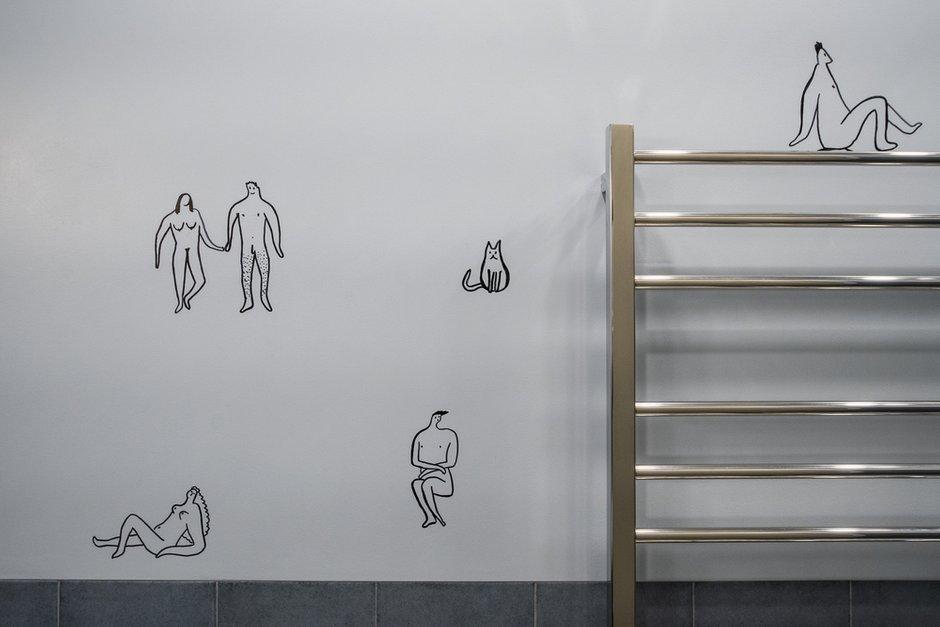 Фотография: Ванная в стиле Современный, Эклектика, Проект недели, Москва, 3 комнаты, 40-60 метров, Stone-Arch, Татьяна Зозуля – фото на INMYROOM
