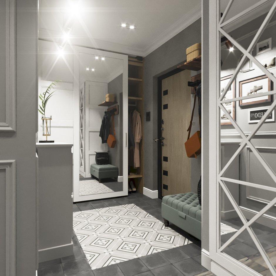 Фотография: Прихожая в стиле Классический, Современный, Квартира, Проект недели, Новосибирск, студия Mango, Монолитный дом, 3 комнаты, Более 90 метров – фото на INMYROOM