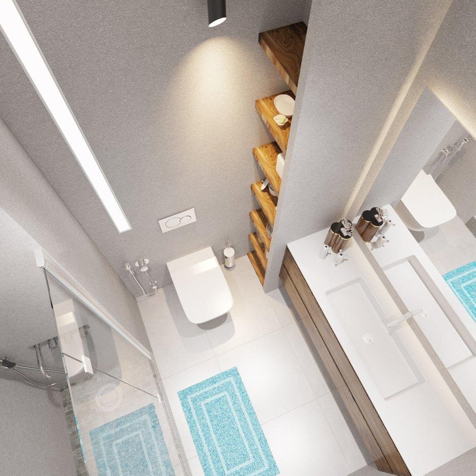 Фотография: Ванная в стиле Скандинавский, Квартира, Проект недели, Москва, Оксана Цымбалова, П-44, 1 комната, 40-60 метров – фото на INMYROOM