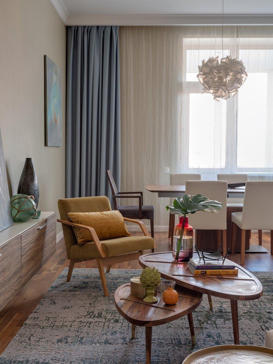 Фотография: Гостиная в стиле Современный, Квартира, Проект недели, 3 комнаты, Более 90 метров, Екатерина Беликова – фото на INMYROOM