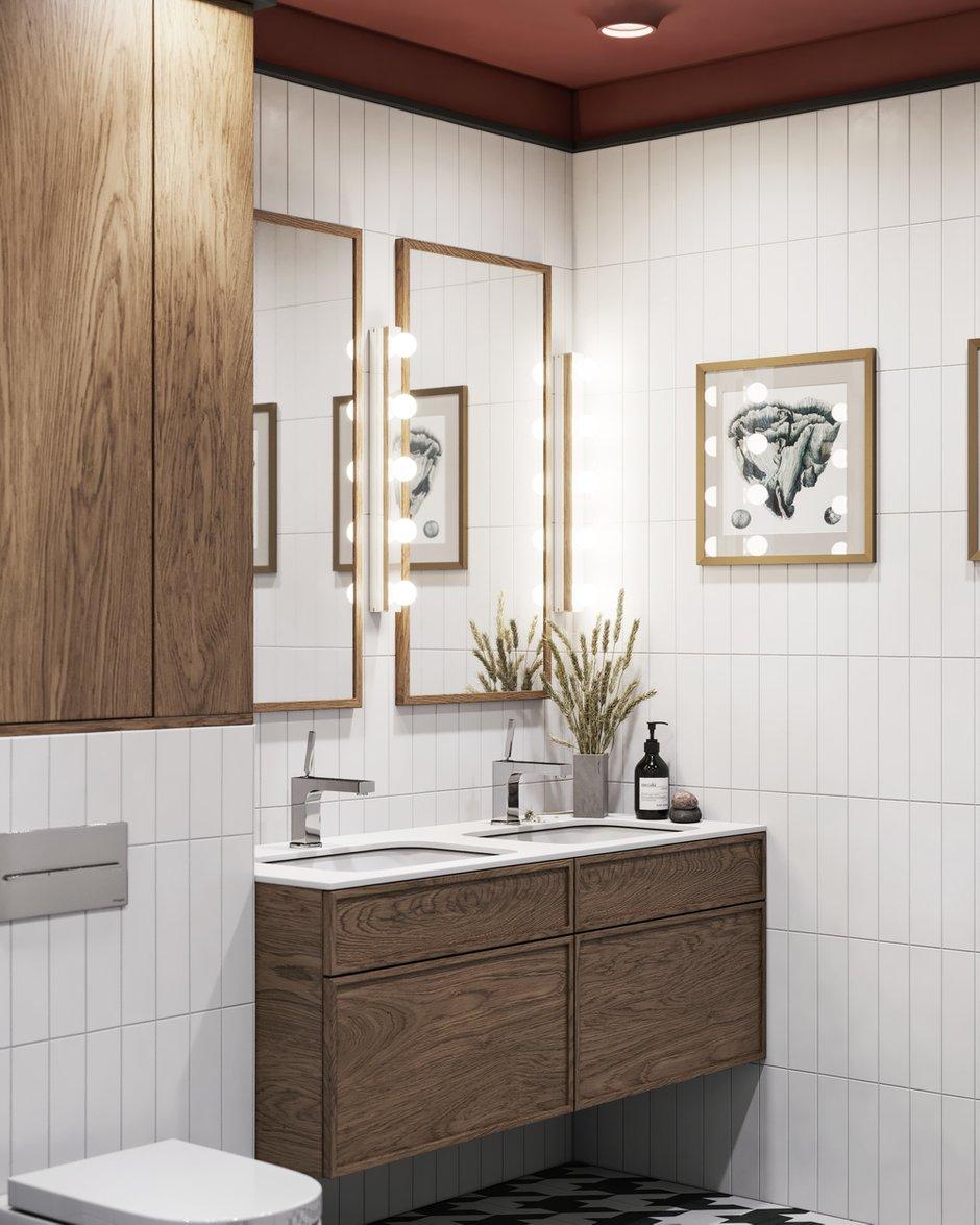 Фотография: Ванная в стиле Современный, Эклектика, Квартира, Проект недели, Санкт-Петербург, ToTaste Studio, 3 комнаты, 60-90 метров, Более 90 метров – фото на INMYROOM