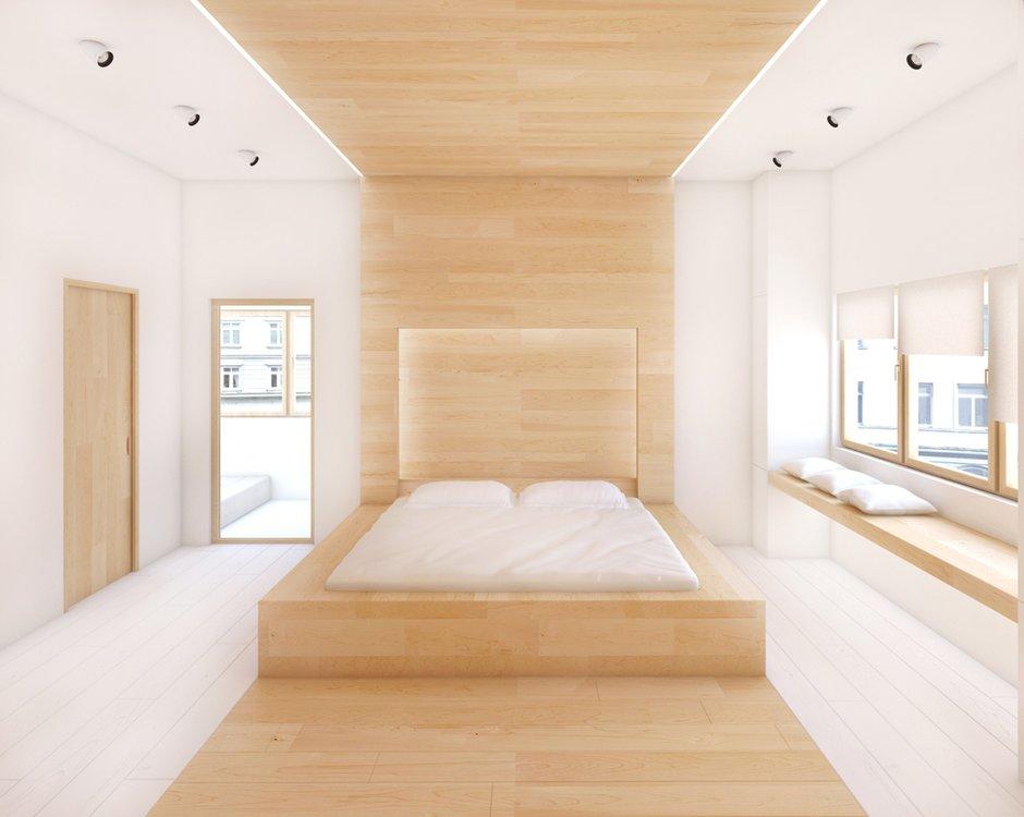 Фотография: Спальня в стиле Современный, Квартира, Дома и квартиры, Минимализм, Проект недели – фото на INMYROOM
