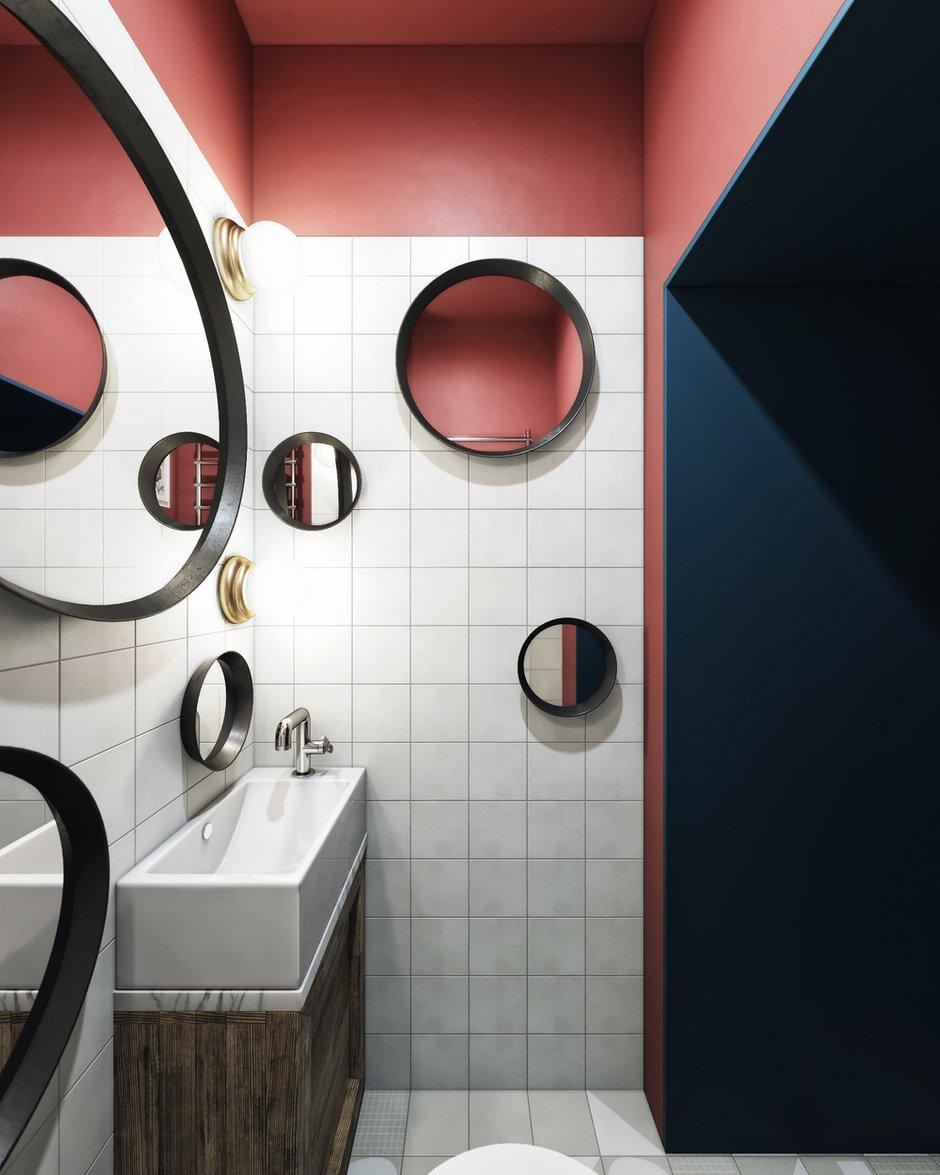 Фотография: Ванная в стиле Лофт, Эклектика, Квартира, Проект недели, Санкт-Петербург, Макс Жуков, ToTaste Studio, 2 комнаты, 3 комнаты, 40-60 метров, 60-90 метров – фото на INMYROOM