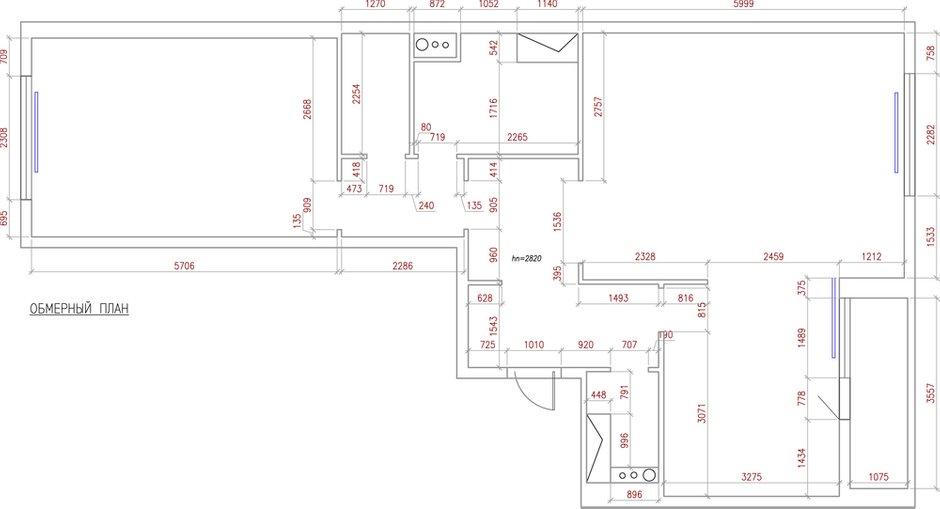 Фотография: Планировки в стиле , Квартира, Проект недели, Москва, Виктория Золина, 2 комнаты, 60-90 метров, Монолитно-кирпичный – фото на InMyRoom.ru