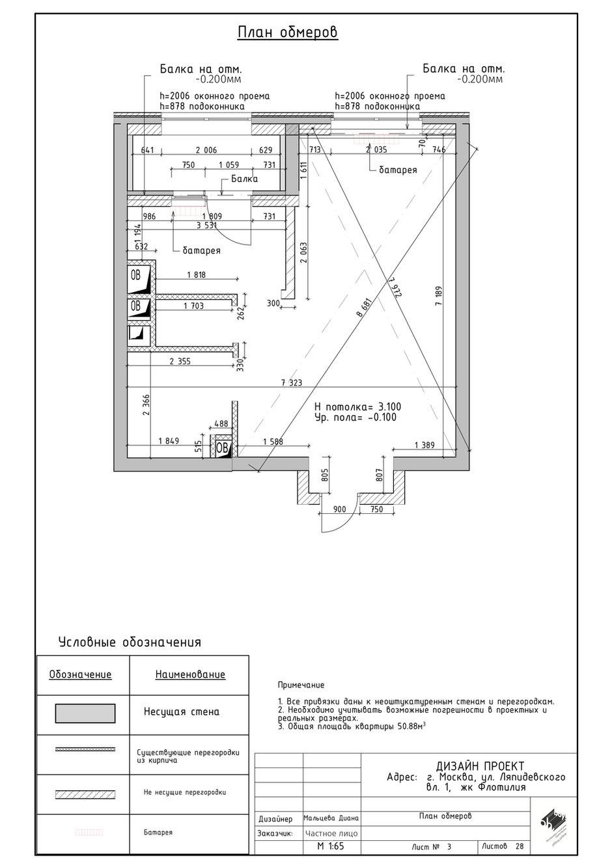 Фотография: Планировки в стиле , Проект недели, Москва, Диана Мальцева, 2 комнаты, 40-60 метров – фото на INMYROOM