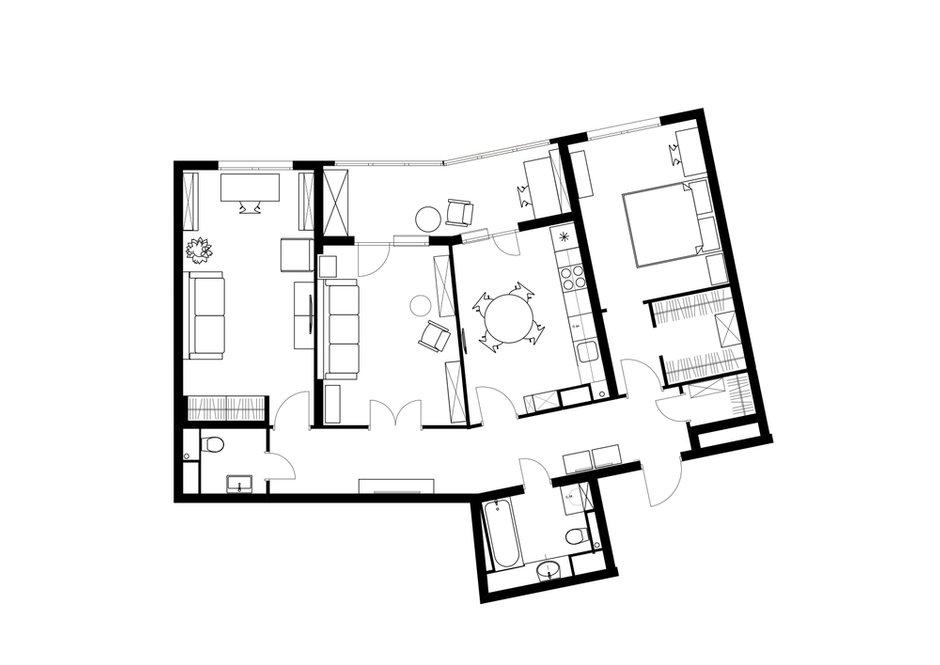 Фотография: Планировки в стиле , Современный, Квартира, Проект недели, Санкт-Петербург, 3 комнаты, Более 90 метров, Наталья Орешкова – фото на INMYROOM