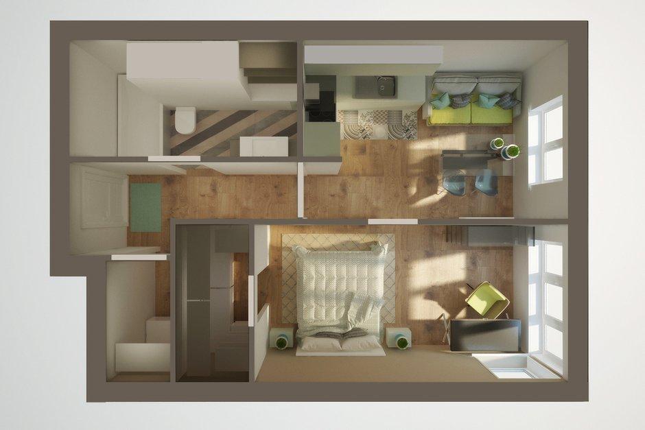Фотография:  в стиле , Квартира, Планировки, Перепланировка, ЖК АРТ, перепланировка двухкомнатной квартиры, двушка, планировка двушки, ЖК ART – фото на INMYROOM