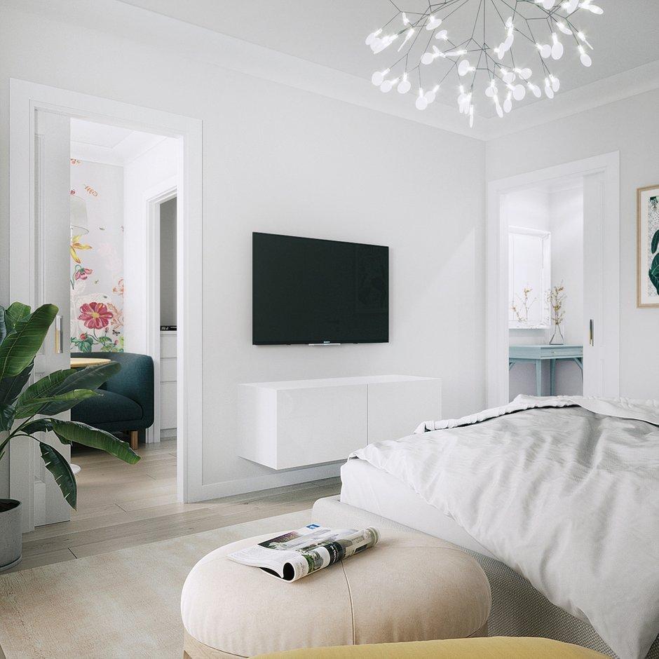 Фотография: Спальня в стиле Современный, Малогабаритная квартира, Квартира, Студия, Проект недели, Москва, Блочный дом, 1 комната, до 40 метров, И-209, Анна Римс – фото на INMYROOM