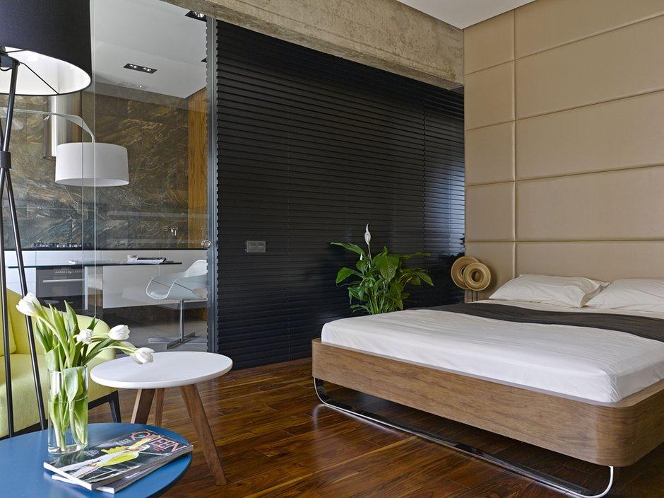 Фотография: Спальня в стиле Эко, Современный, Малогабаритная квартира, Квартира – фото на INMYROOM